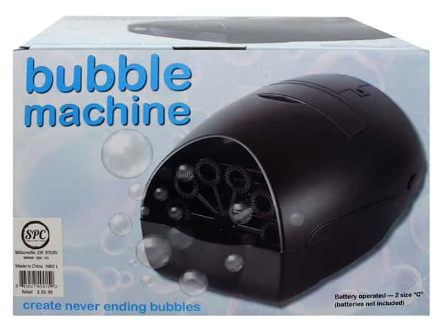 Sierra Pacific Bubble Machine Battery Operated Black