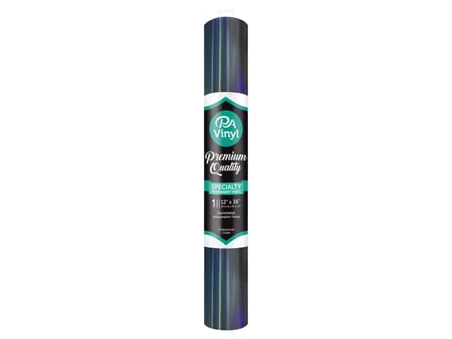 PA Adhesive Vinyl 12 x 36 in. Permanent Holographic Gunmetal