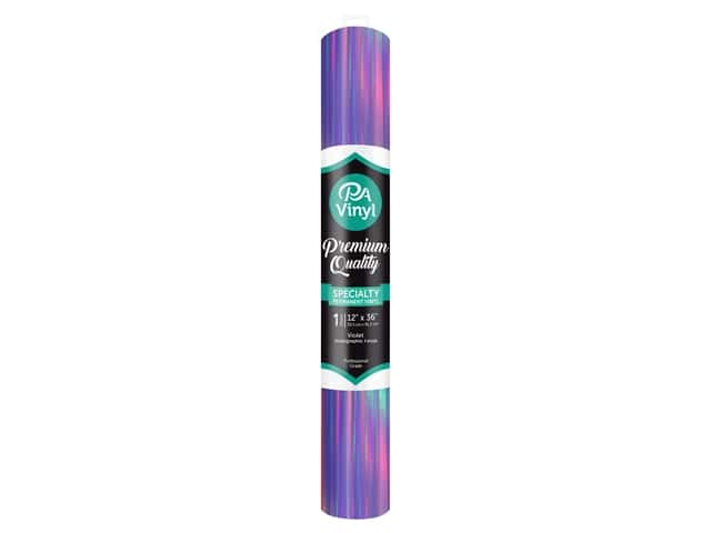 PA Adhesive Vinyl 12 x 36 in. Permanent Holographic Violet