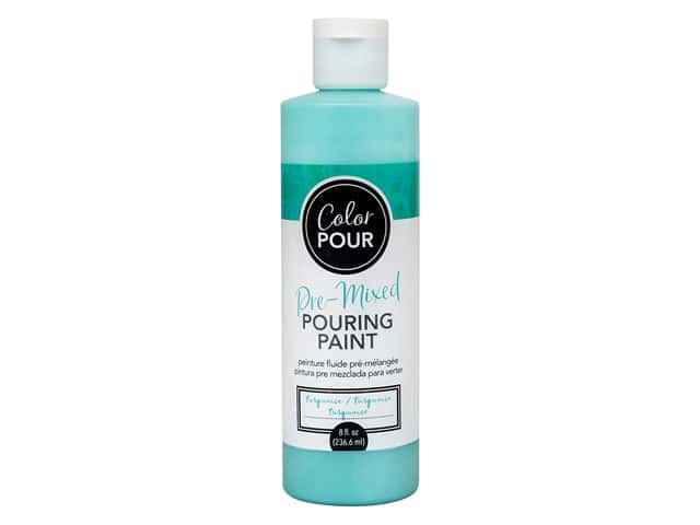 American Crafts Color Pour Pre-Mixed Pouring Paint - 8 oz. Turquoise