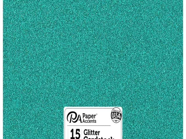 Paper Accents Glitter Cardstock 12 x 12 in. #G19 Prussian Blue 15 pc.