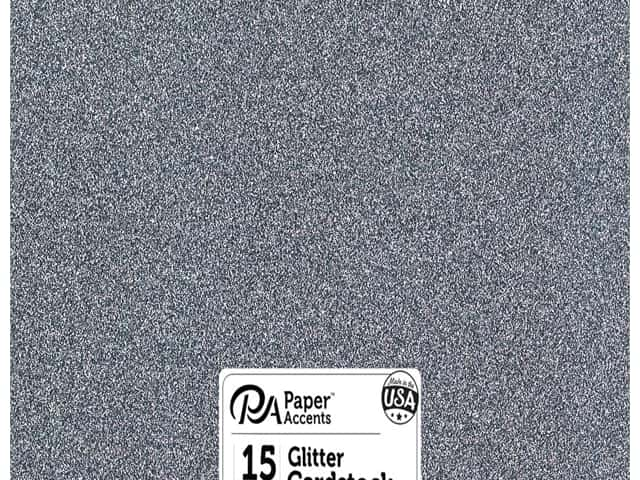 Paper Accents Glitter Cardstock 12 x 12 in.  #G61 Onyx 15 pc.