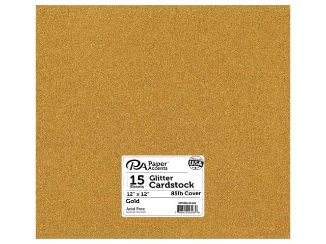 Paper Accents Glitter Cardstock 12 x 12 in. #G10 Gold 15 pc.