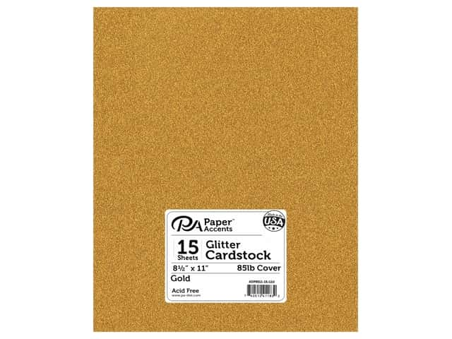 Paper Accents Glitter Cardstock 8 1/2 x 11 in. #G10 Gold 15 pc.