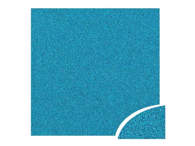 Paper Accents Glitter Cardstock 22 x 28 in. #G08 Ocean Blue 10 pc.