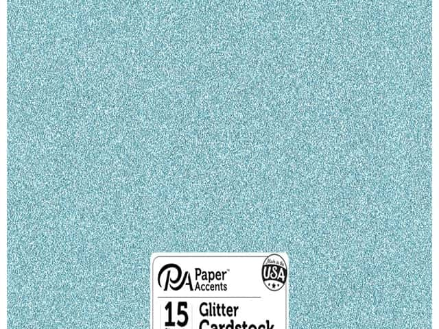 Paper Accents Glitter Cardstock 12 x 12 in. #G09 Sky Blue 15 pc.