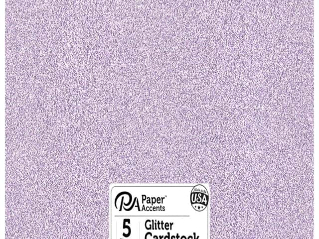 Paper Accents Glitter Cardstock 12 x 12 in. #G29 Lavender 5 pc.