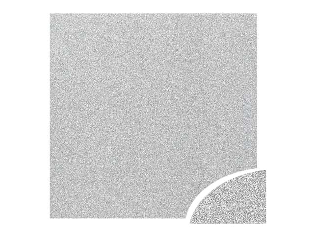 Paper Accents Glitter Cardstock 22 x 28 in. #G12 Silver 10 pc.