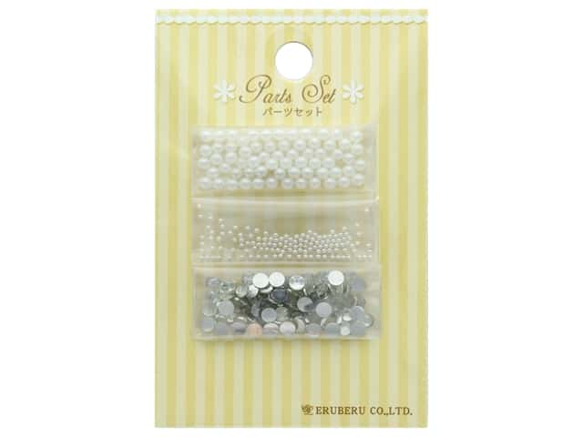 Resinate Decorative Parts Set Assorted White & Silver