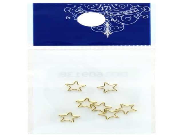 Resinate Charm Frame Star Small Gold 7 pc