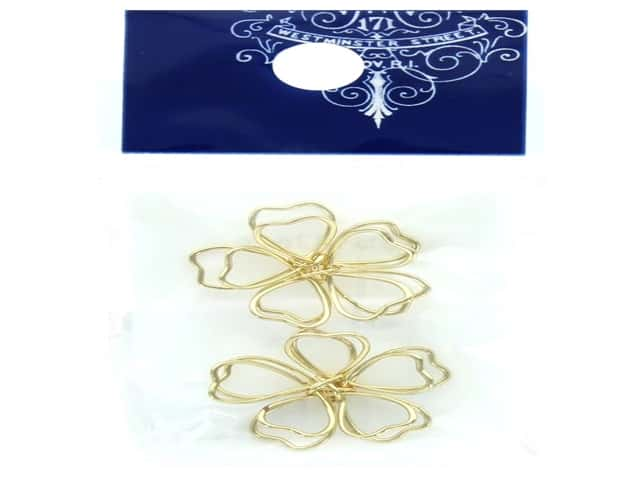 Resinate Wire Flower Large Gold 2pc