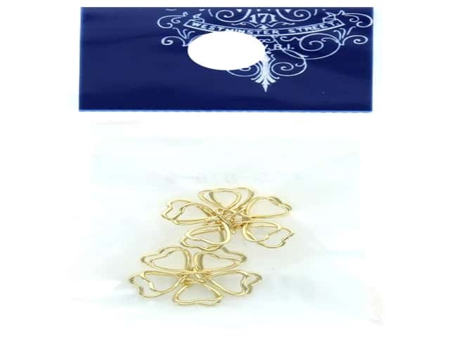 Resinate Wire Flower Small Gold 2pc