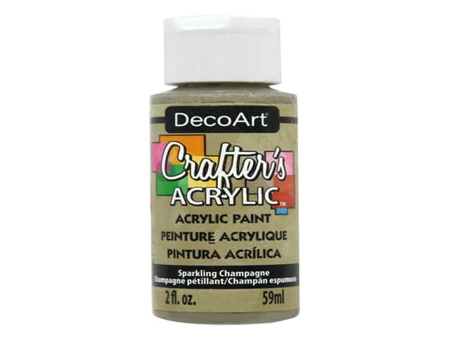 DecoArt Crafter's Acrylic Paint - #145 Sparkling Champagne 2 oz.