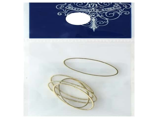 Resinate Ring Part Oval Small Gold 5pc