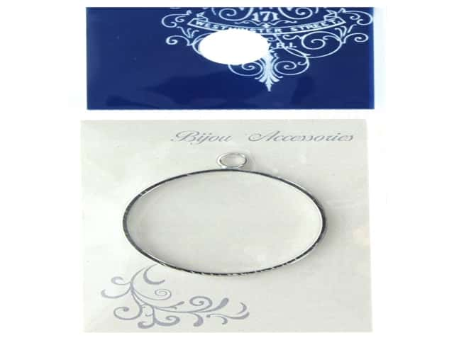 Resinate Charm Frame Round large Silver