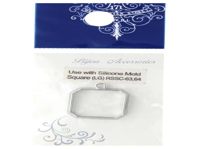 Resinate Charm Frame Square Large Silver