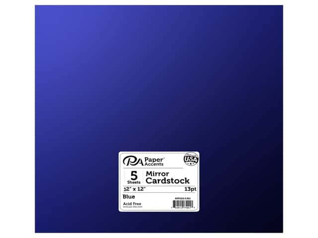 Paper Accents Cardstock 12 x 12 in. Mirror Blue 5 pc.