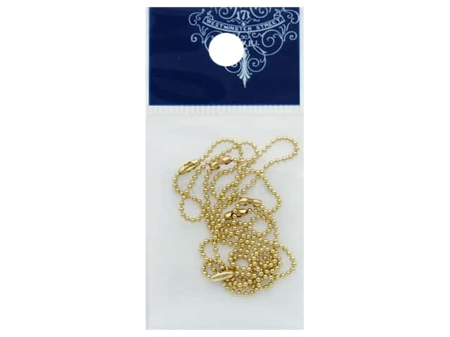 Resinate Ball Chain 1.2mm 10cm Gold 5pc