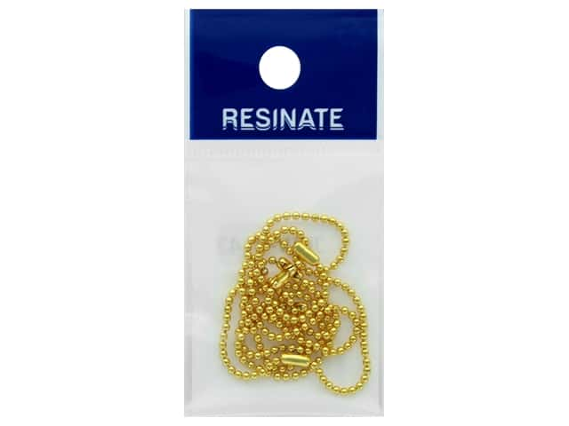 Resinate Ball Chain 1.5mm 10cm Gold 5pc