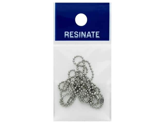 Resinate Ball Chain 1.5mm 10cm Silver 5pc