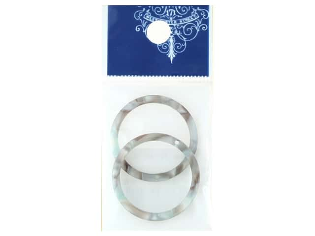 Resinate Plate Part Ring Shell Grey 2pc