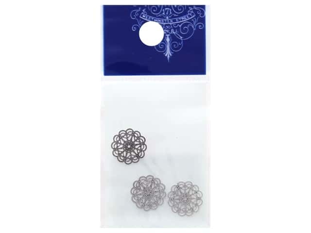 Resinate Charm Openwork Round Small Silver 3 pc
