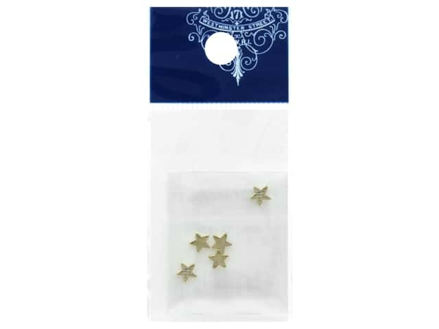 Resinate Charm Flat Star Small Gold 5 pc