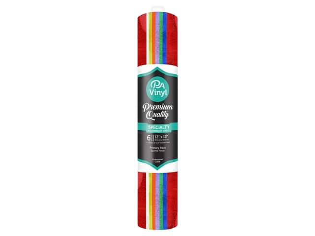 PA Adhesive Vinyl 12 x 12 in. Combo Pack Permanent Sparkle Primary with Transfer Tape
