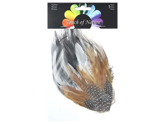 Midwest Design Feather Hackle Pad 4 in. x 6 in. Guinea