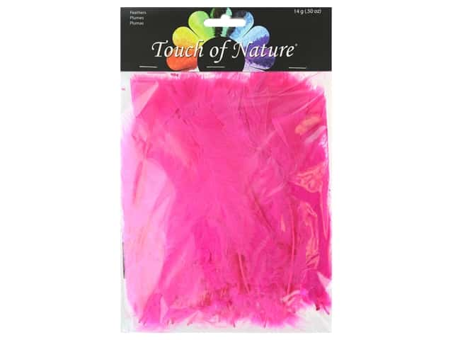 Midwest Design Feather Turkey Flat 4-6 in. Hot Pink 14 gm