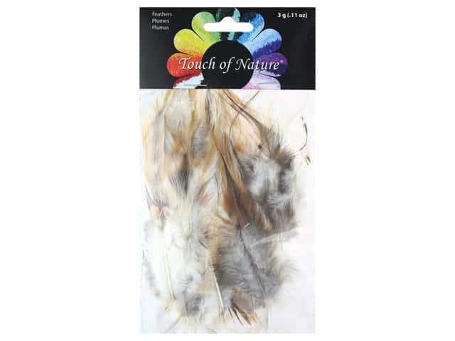 Midwest Design Feather Saddle Hackle 4-5 in. Natural 3 gm