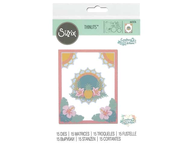 Sizzix Dies Courtney Chilson Thinlits Tropical Elements