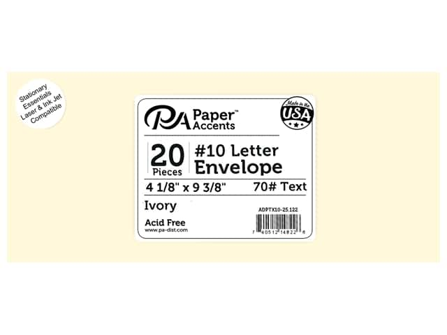 4 x 9 1/4 in. Letter Envelopes by Paper Accents 25 pc. #122 Ivory