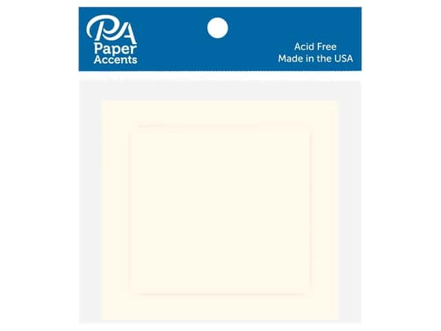 Paper Accents 2 1/2 x 2 1/2 in. Blank Card & Envelopes 10 pc. Cream