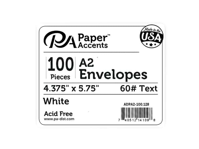 Paper Accents 4 1/4 x 5 1/2 in. Envelopes 100 pc. #128 White