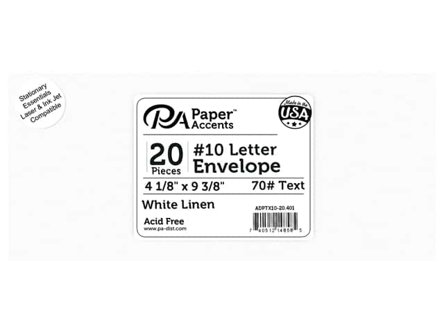 Paper Accents 4 x 9 1/4 in. Letter Envelopes 20 pc. Linen White