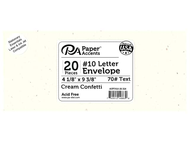 4 x 9 1/4 in. Letter Envelopes by Paper Accents 25 pc. Cream Confetti