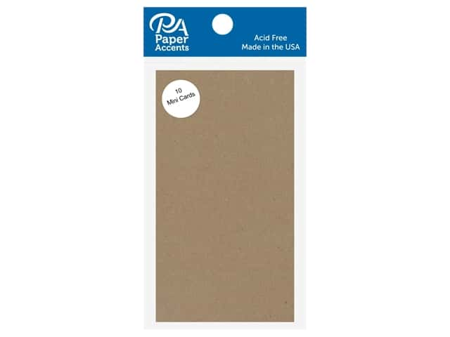 Paper Accents 2 1/2 x 5 in. Mini Cards Brown Bag 10 pc.