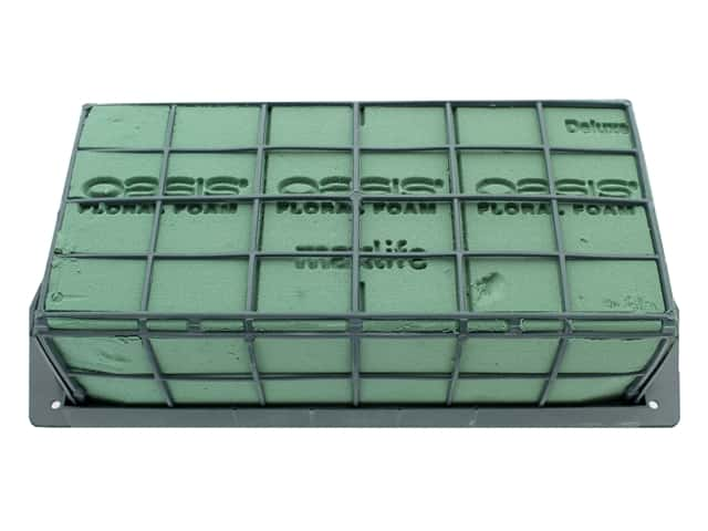 Oasis Containers Tribute Cage Holder With Foam 9 in. x 4 in. x 4 in.