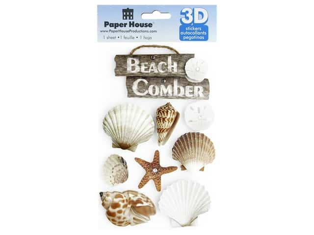 Paper House 3D Stickers - Beach Comber