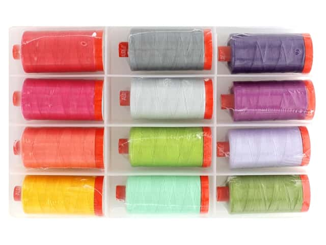 Aurifil Tula Pink Chipper Thread Collection 12 pc.