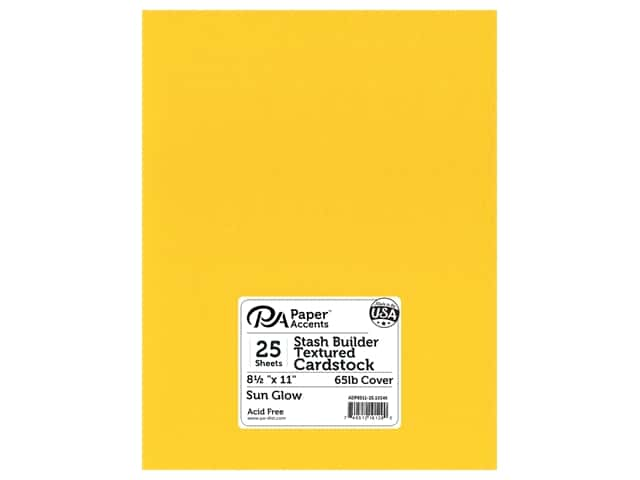 Paper Accents Cardstock 8 1/2 x 11 in. #10146 Stash Builder Textured Sun Glow 25 pc.