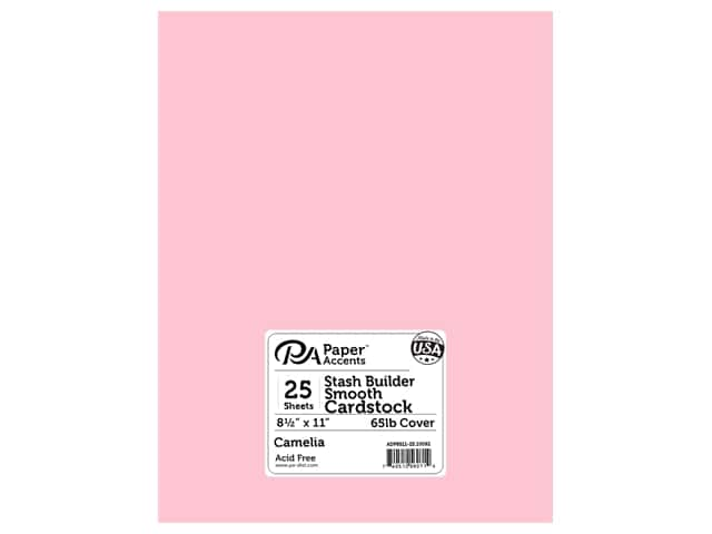 Paper Accents Cardstock 8 1/2 x 11 in. #10092 Stash Builder Camelia 25 pc.