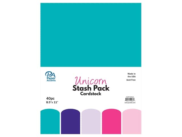 Paper Accents Cardstock Stash Pack 8 1/2 x 11 in. Unicorn 40 pc.