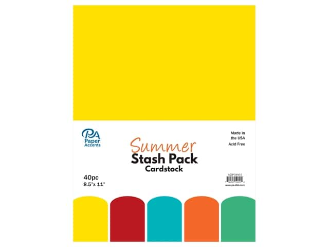 Paper Accents Cardstock Stash Pack 8 1/2 x 11 in. Summer 40 pc.