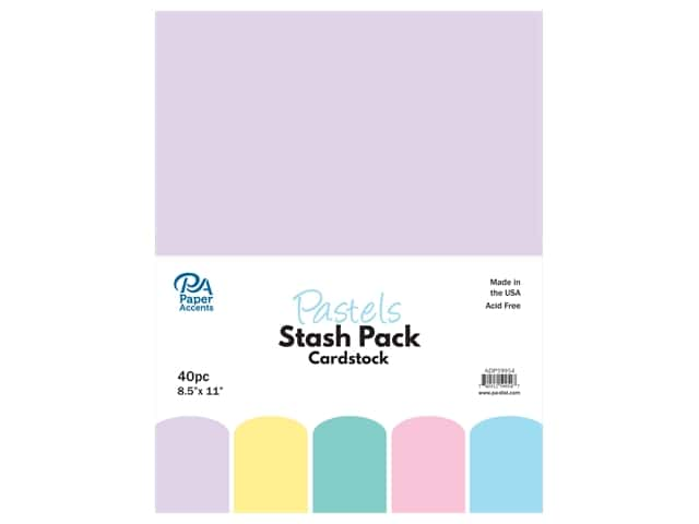 Paper Accents Cardstock Stash Pack 8 1/2 x 11 in. Pastels 40 pc.