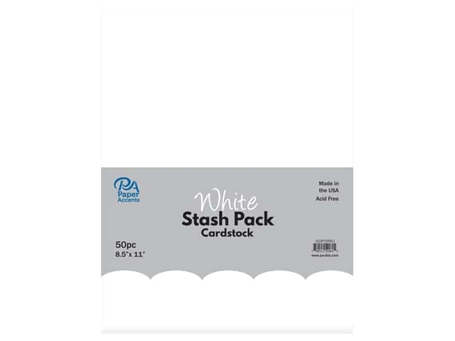 Paper Accents Cardstock Stash Pack 8 1/2 x 11 in. White 50 pc.