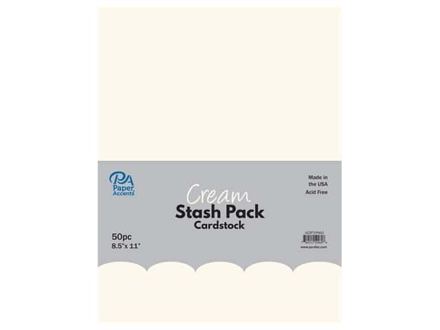 Paper Accents Cardstock Stash Pack 8 1/2 x 11 in. Cream 50 pc.