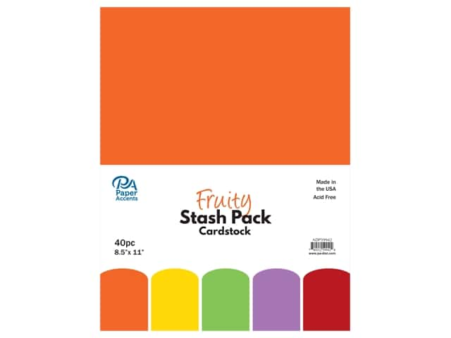 Paper Accents Cardstock Stash Pack 8 1/2 x 11 in. Fruity 40 pc.