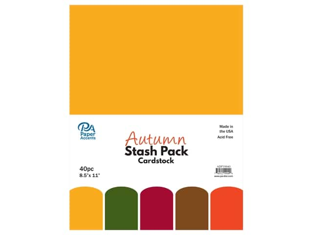 Paper Accents Cardstock Stash Pack 8 1/2 x 11 in. Autumn 40 pc.